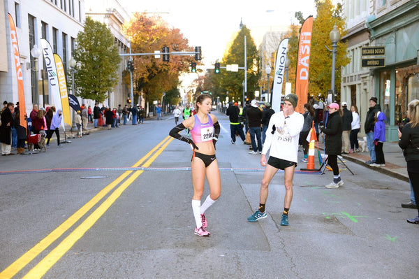 Alyssa Vassallo training for her Olympic Trials marathon run.