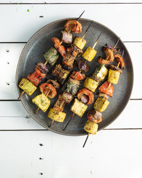 Garden Ranch grilled veggie skewers