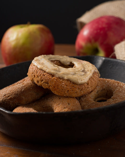 Maple Seed Butter Glazed donuts are perfect for a cold fall day.