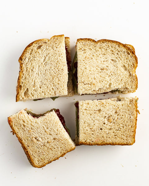 Pumpkin Seed Butter and Jelly Sandwich. Great for school lunches!