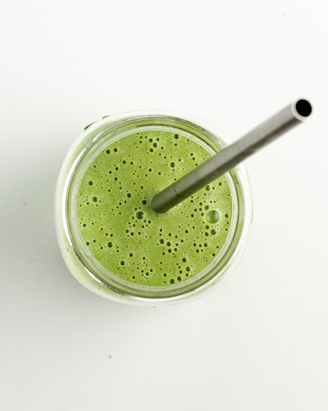 Pumpkin Seed Butter green smoothie. Tastes great with fruits and veggies!