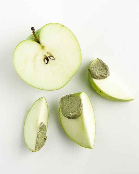 Apples and Pumpkin Seed Butter. The perfect on-the-go snack.