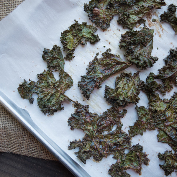 Chocolate Seed Butter Kale Chips