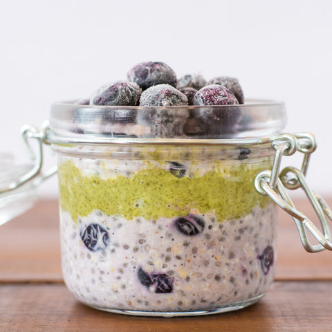 Overnight Oats with Pumpkin Seed Butter
