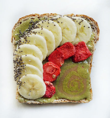 Healthy breakfast toast