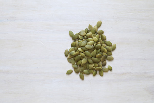 Pepitas are a whole protein and especially rich in iron (great for vegans and vegetarians).