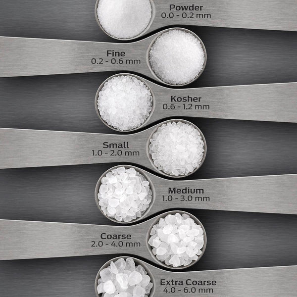 sea salt grain sizes