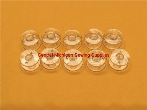(10) Plastic Bobbins for Top Loading- Fits Many Models (Part # 102261103)