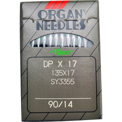Organ Industrial Sewing Machine Needles STANDARD POINT 135x17, DPx17 Availabe in Size 14, 16, 18, 20, 21, 22, 24 Fits Singer Models 111W, 111G, 211W, 211G, 153W1, 153W3, 153W4, 168W, 168G, 410W
