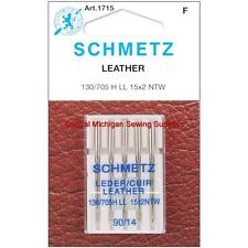 Schmetz Leather Sewing Machine Needles Fits Most Home Sewing Machines Singer, Kenmore, Elna, Viking, Montgomery Ward