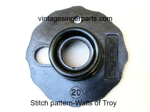 Original Singer Top Hat Cam # 20 Walls of Troy 174546 Fits Models 401, 403, 411, 431, 500, 503, 600 series