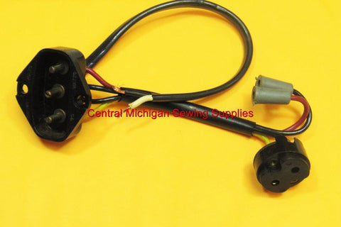 SINGER SEWING MACHINE MODEL 301, 301A ELECTRICAL PLUG RECEPTACLE