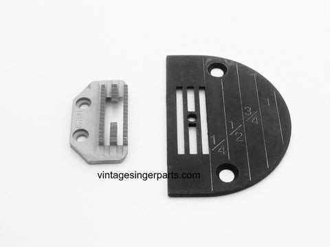 New Replacement Needle Plate & Feed Dog Set For Medium Duty Work Fits Singer Industrial Model 31