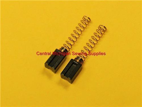(2) Carbon Motor Brushes Large Size with Springs 5 mm x 6 mm x 11.5 mm (Part # YM4016-P)