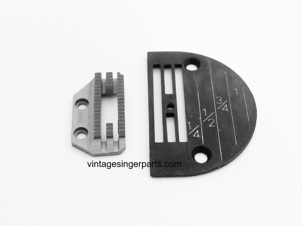 New Replacement Needle Plate & Feed Dog Set For Heavy Duty Work Fits Singer Industrial Model 31