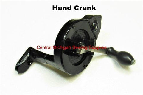 Hand Crank For Sewing Machines With Spoke Hand Wheel