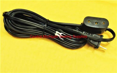 Singer Sewing Machine Power Cord Double Lead Fits 66, 99, 15-86, 15-88, 15-90, 15-91, 201, 206W, 206K, 221, 222, 285K, 301, 306K, 306W, 319