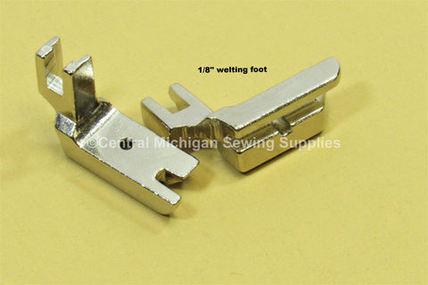 "Singer Low Shank Single Cord Welting / Piping Foot 1/4"" 1/8"" 3/16"" 3/8"" or 1/2"""