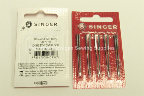 Singer Serger Needle 2054 Sharp 16x75 Size 12 Fits All 14U Except 14U64