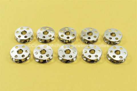 (10) Metal Bobbins- Singer (Part # 45785)