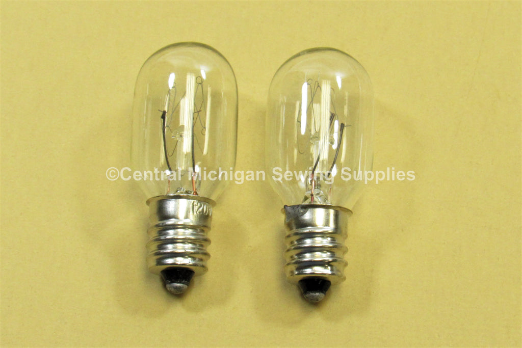 Montgomery Ward Sewing Machine Light Bulbs Screw In Type 7/16 Base, 15 Watt, 120 Volt