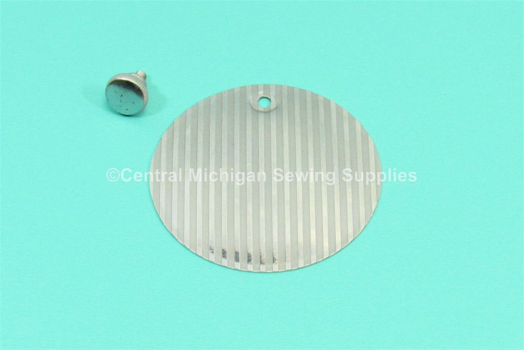 "Original Singer Round Rear Cover Plate 2 1/2"" Fits Models 66,  201, 15-90, 15-91"