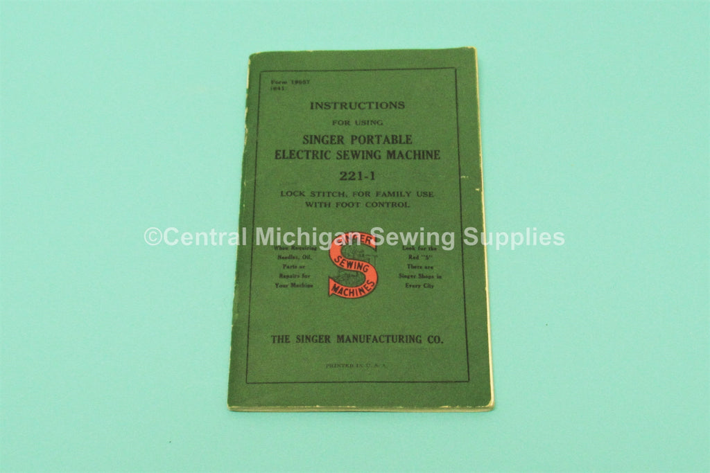 Original Singer Sewing machine Model 221-1 Instruction Manual