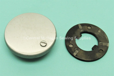 Vintage Original Stop Motion Knob, Set Screw and Washer Fits Singer Gear Driven Models 201 & 15-91
