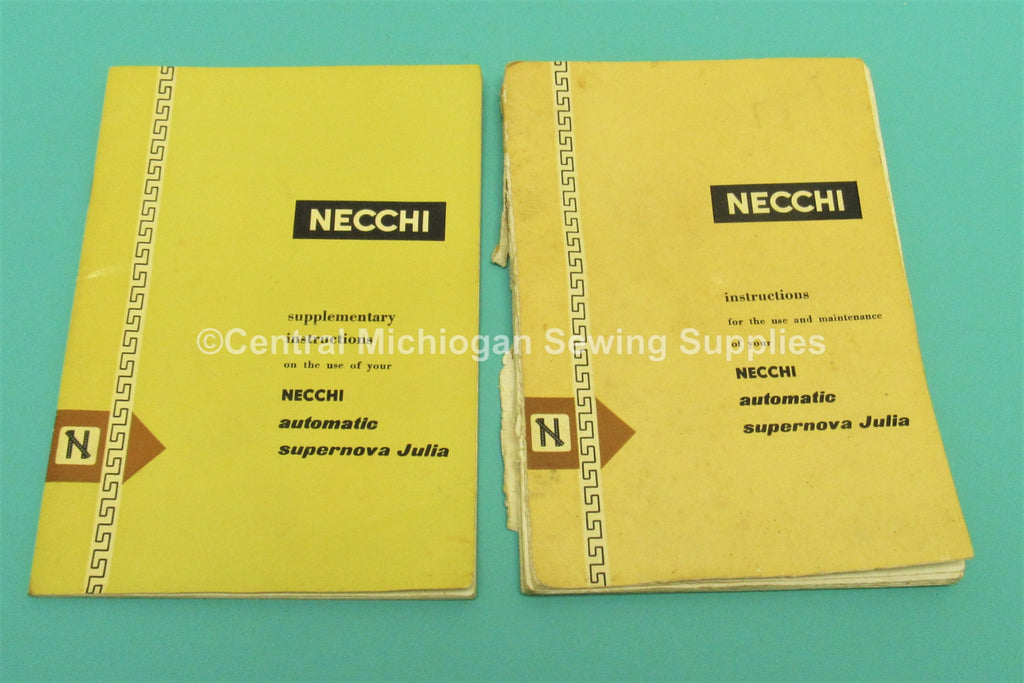 Vintage Original Necchi Sewing Machine SuperNova Julia Instruction Manuals