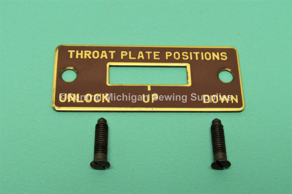 Original Singer Throat Plate Position Cover Fits Model 403A