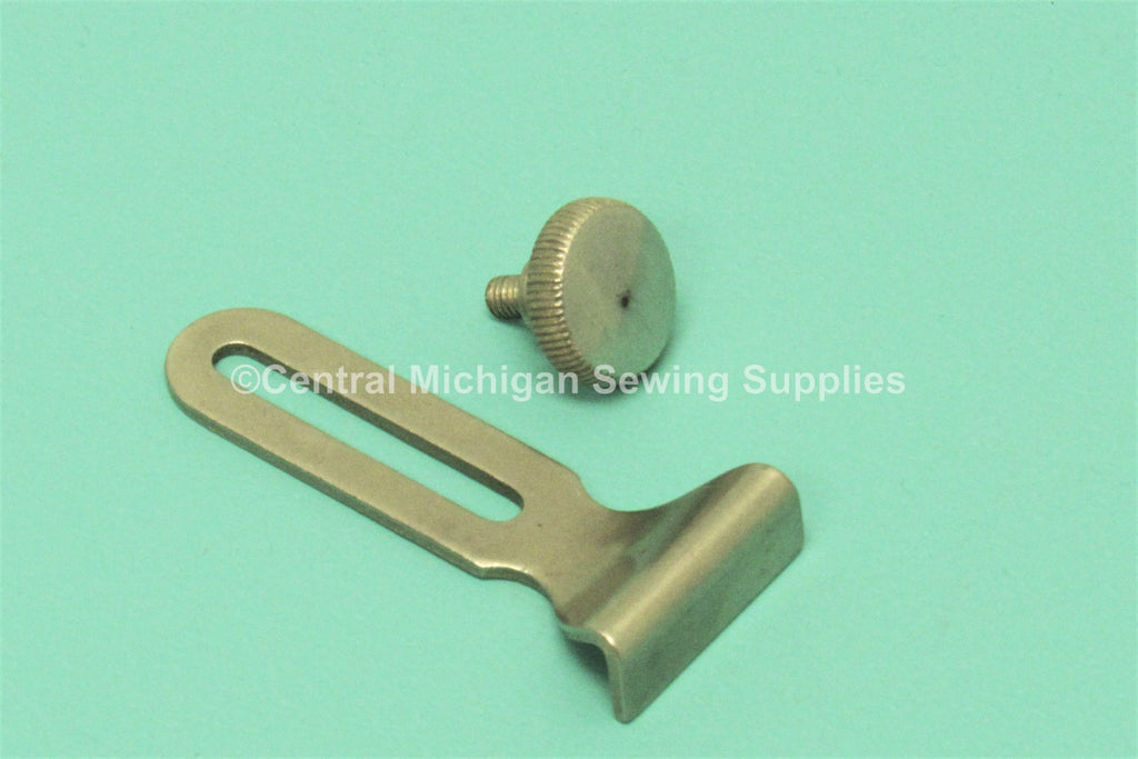 Vintage Original Singer Cloth Guide & Thumb Screw Will Fit Models 15, 27, 28, 66, 99, 201, 221 Part # 25527