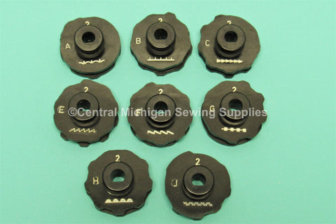 Vintage Original Set of Eight Stitch Cams Fits Kenmore Model 117.740 & 117.841