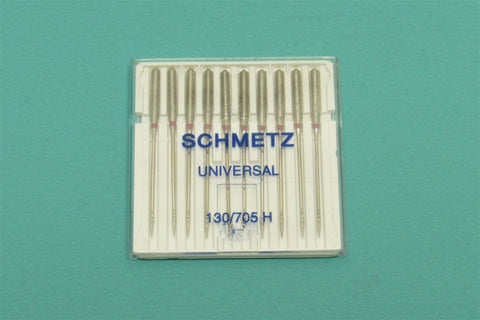 Schmetz Sewing Machine Needles 15x1 Available in size 8, 10, 11, 12, 14, 16, 18 Fits Singer, Kenmore, Elna