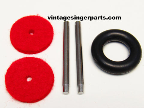 Singer Sewing Machine Metal Spool Pin Kit Fits Models 15, 27, 28, 66, 99, 206, 306