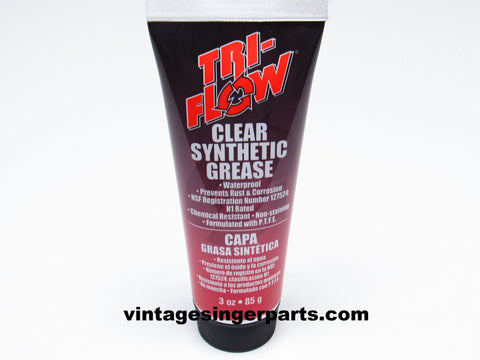 Tri-Flow Clear Synthetic Grease with Teflon - 3 oz Tube Gears Plastic Metal