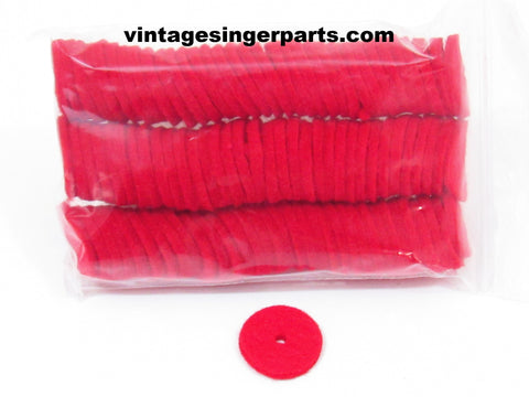 Spool Pin Felt Pads 100 ct 3 mm Thick Red or White