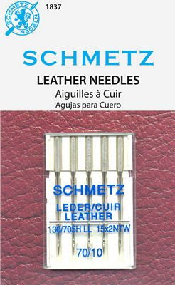 Schmetz Leather Needles Fits Singer Models 15, 27, 28, 66, 99, 201, 221, 301, 401, 403, 404, 500, 503