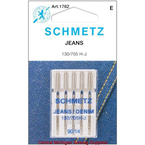 Schmetz Denim / Jeans Needles Fits Singer Models 15, 27, 28, 66, 99, 201, 221, 301, 401, 403, 404, 500, 503, Most Home Machines