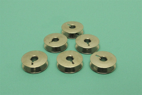 (6) Metal One Piece Bobbins - Bernina (Part #330.026.030)
