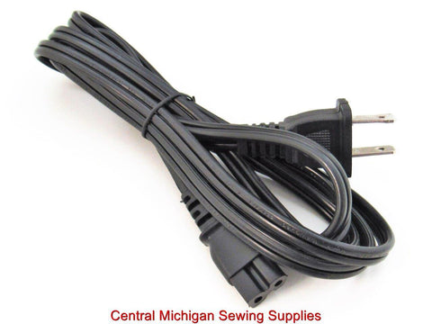 Sewing Machine Power Cord Fits Many Singer, Elna, Brother, New Home, Viking, Bernina # X50018001