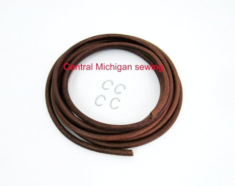 "Industrial Sewing Machine Leather Belt Made In USA Available in 1/4"", 5/16"", 11/32"" diameter"