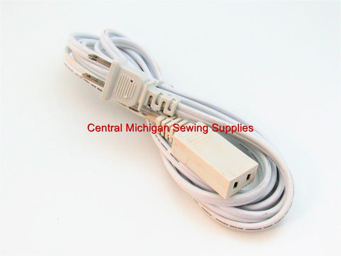 Elna Sewing Machine Power Cord Fits Models 38, 39, 45, 46, 500, 5000, 55, 56, 57, 58, 59, 6000, 65, 66, 68, 69, 7000, 8000, 9000, CLUB, DIVA,