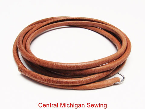 "Treadle Sewing Machine Leather Belt- 3/16"" x 72"" (Part # P60013)"