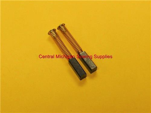 Carbon Motor Brushes Small Size With Springs 4 mm x 4.5 mm x 13.5 mm