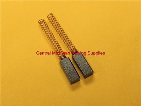 (2) Carbon Motor Brushes Medium Size with Springs 4 mm x 3.5 mm x 13 mm (Part # YM4013-P)