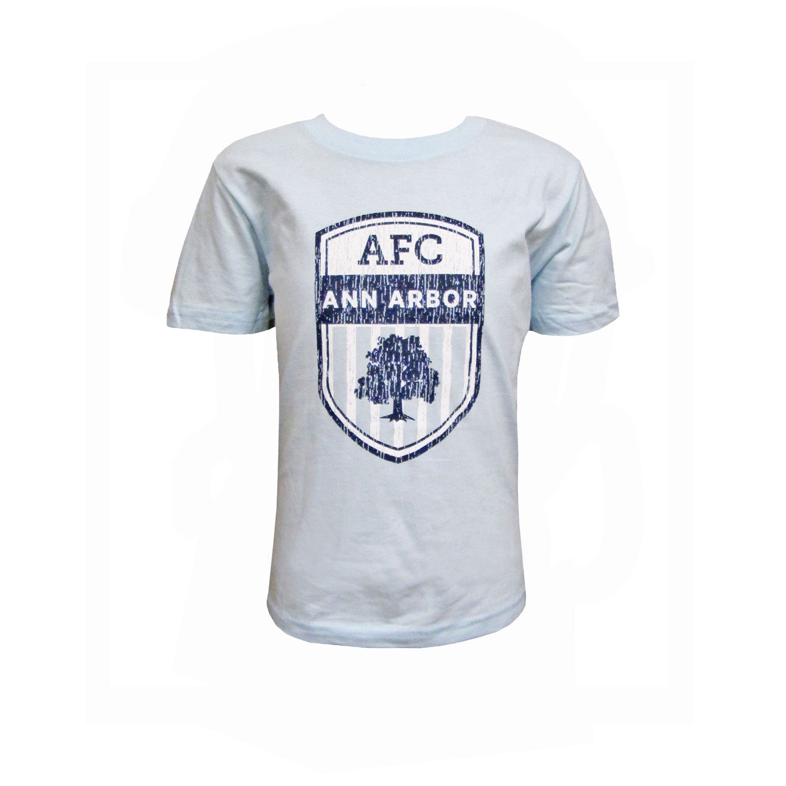 Youth Crest Tee - Lt Blue