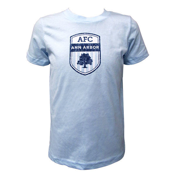 Toddler Crest Tee - Lt Blue