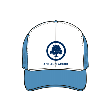 Pacific Headwear Vintage Adjustable Hat- White/Lt Blue
