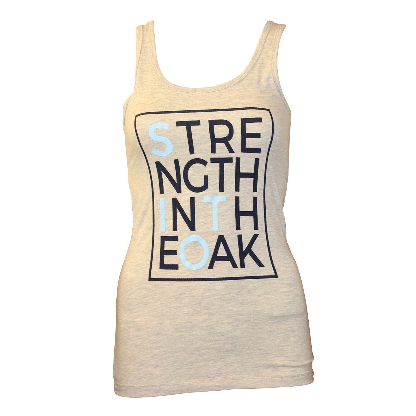 SITO Block Ladies Tank - Light Heather Grey