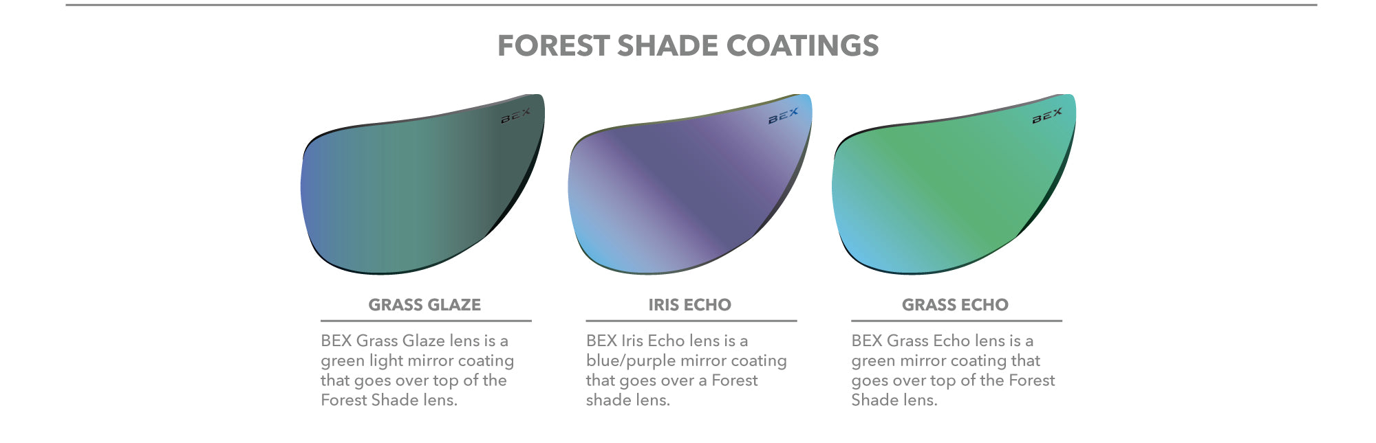Forest Shade lens coatings
